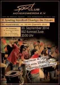 1. Heimspiel - Chemnitz