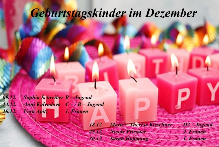 Geburtstage Im Dezember Handball